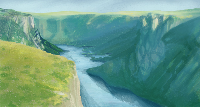 Gros Morne National Park, sketched from photoreference.